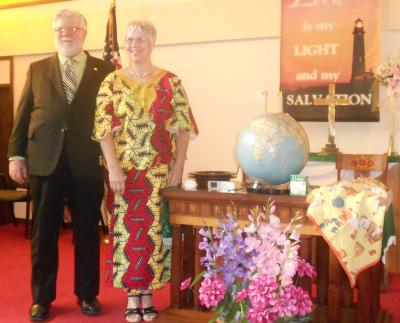 Ruth and John Park Winkler sharing Congo
